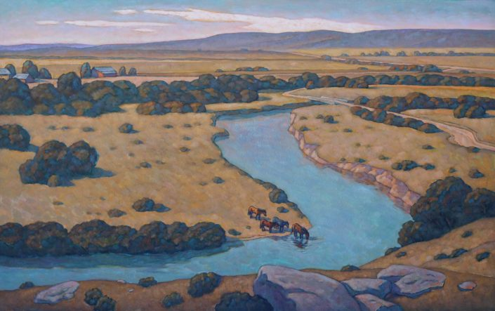 Howard Post, Above the Riverbend, 2017