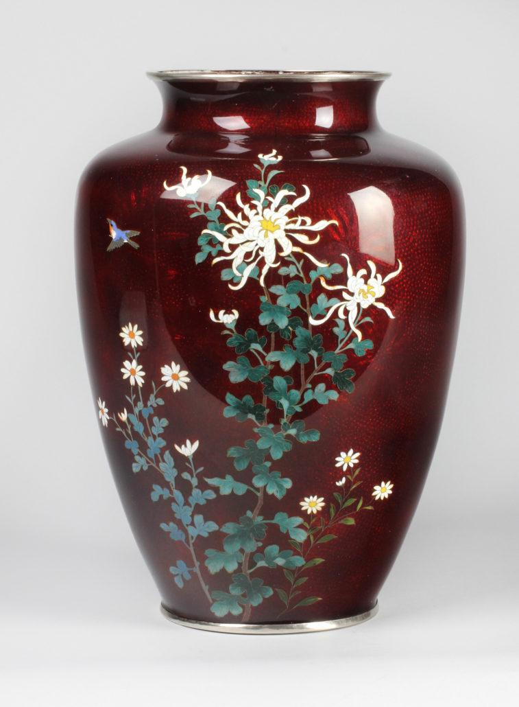 Japanese, Meiji Period, Pigeon Blood Vase, c. 1940