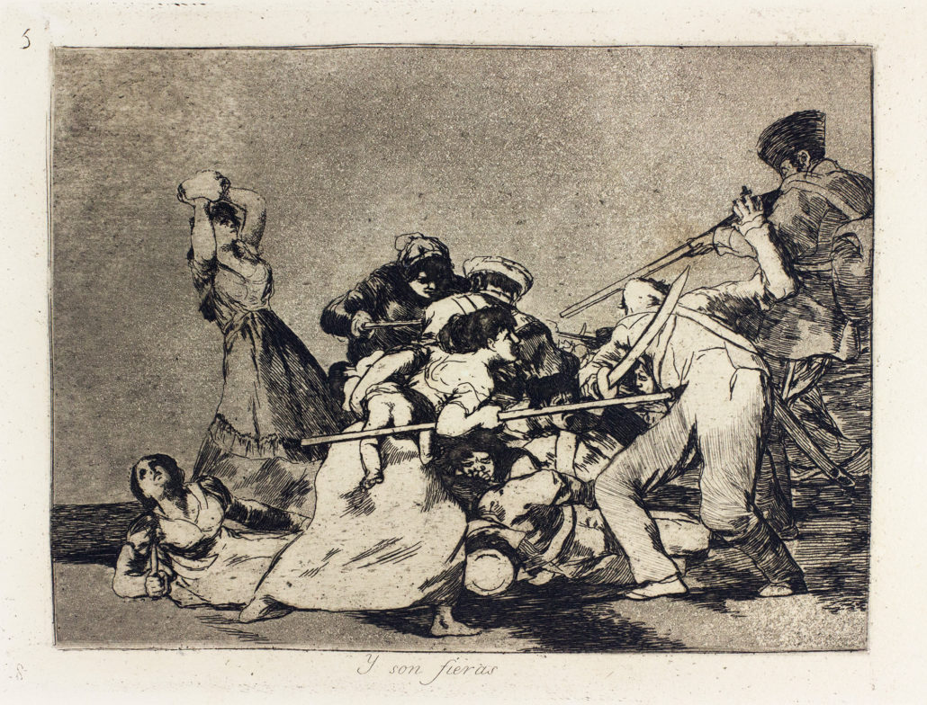Francisco Jose de Goya y Lucientes, …Y Son Fieras, 1799