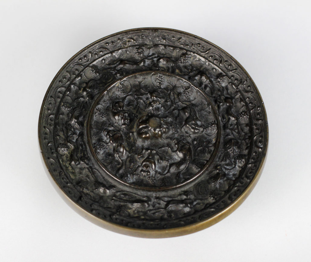China, Ming Dynasty, ca. 15th century, Mirror with Animal Motif bronze