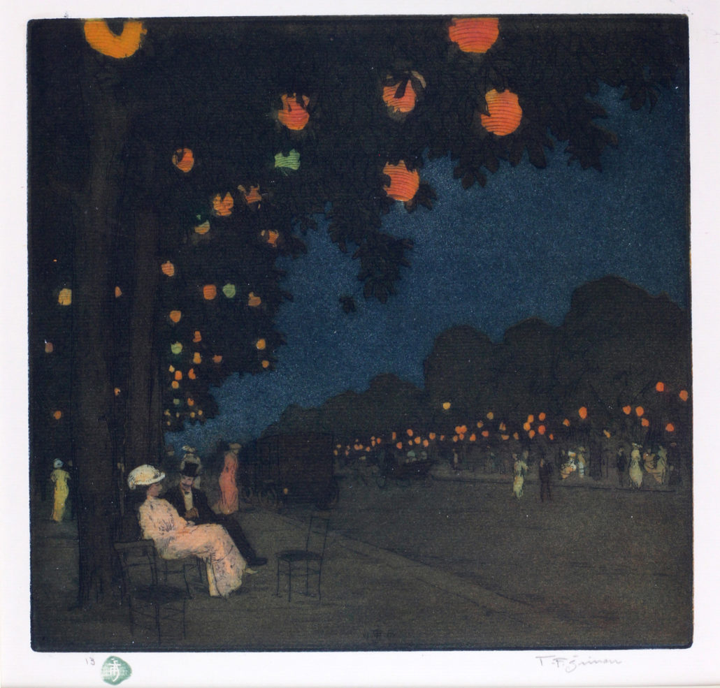 Tavik František (T.F.) Šimon, Paris Night Scene, c. 1922