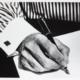 Ralph Gibson Striped Shirt Pen, 2014 Silver gelatin print, AP 2017.43.2 Gift of Mehul Patel