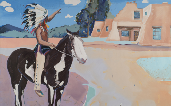 Joe Baker, Camp Horwitch, 1985 oil on canvas, 66 x 106 in. Courtesy of the Artist